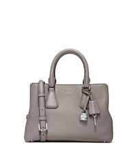 Camille Small Leather Satchel - PEARL GREY - 30H5SCAS1L