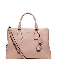 Camille Large Leather Satchel - BALLET - 30H5SCAS3L