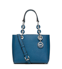 Cynthia Extra-Small Saffiano Leather Satchel - STEEL BLUE - 30H5SCYS1L