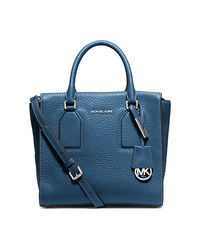 Selby Medium Pebbled-Leather Satchel - STEEL BLUE - 30H5SEYS2L