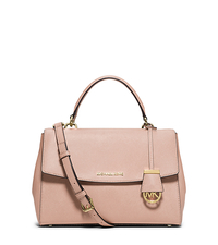 Ava Medium Saffiano Leather Satchel - BALLET - 30T5GAVS3L