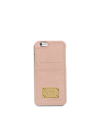 Saffiano Leather Pocket Smartphone Case - BALLET - 32H4GELL3L