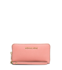 Jet Set Travel Large Smartphone Wristlet - PALE PINK - 32H4GTVE9L
