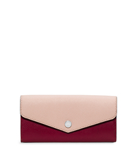 Greenwich Saffiano Leather Wallet - CHERRY/BALLET - 32H5SGRE2U