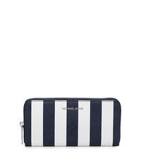 Jet Set Travel Saffiano Leather Continental Wallet - NAVY/WHITE - 32H5SVSE9R