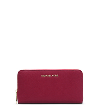 Jet Set Travel Saffiano Leather Continental Wallet - CHERRY - 32S4GTVE7L