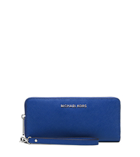 Jet Set Travel Saffiano Leather Continental Wallet - ELECTRIC BLUE - 32S5STVE9L