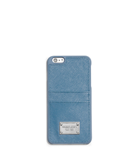 Saffiano Leather Pocket Smartphone Case - SKY - 32T5SELL3L