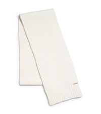 Ribbed Cashmere Scarf - CREAM - MH50B36UJ5